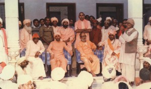 babaji ( sitting on extreme right), Shri Avaidya nath ji, Shri Chand nath ji